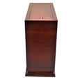 Side view of Cherry Finish Wood Slide Top Dog Urn