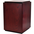 Classic Cherry Finish Wood Dog Urn shown plain with no personalizations