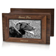 Photo Wood Pet Urn shown with gold fill engraving