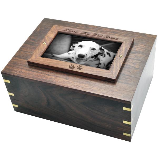 Perfect Wooden Box | Photo Frame Dog Urn X Large
