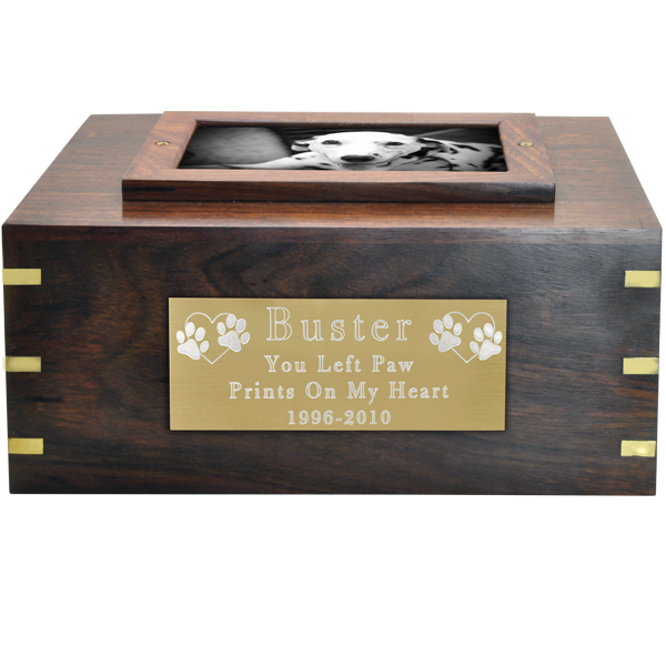 Perfect Wooden Box Photo Frame Dog Urn X Large