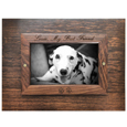 Top of Perfect Wooden Box Photo Frame Pet Urn XLarge shown engraved