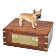 French Bulldog Figurine Wooden Urn