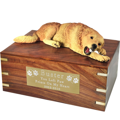 Pet Urns Golden Retriever -Laying