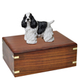 Urn shown with Cocker Spaniel Black dog figurine
