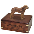 Wood engraving shown on front of Chesapeake Bay Retriever Figurine Wood Urn