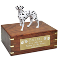 Pet Urns Dalmatian Figurine Wood Urn