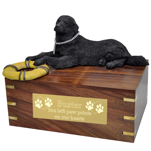 Pet Urns: Newfoundland Dog- Laying
