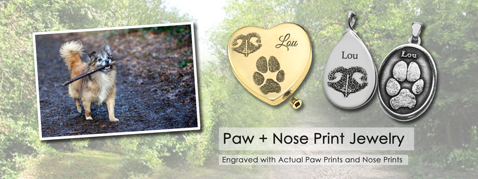 paw and nose print jewelry