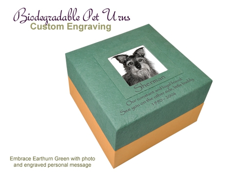 Engravable Embrace Earthurn Green with Photo 